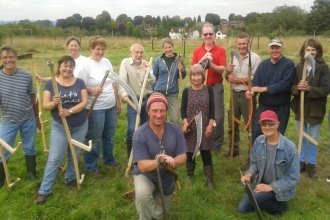 Scything course