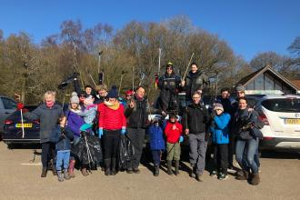 Litter pick at Newlands Corner