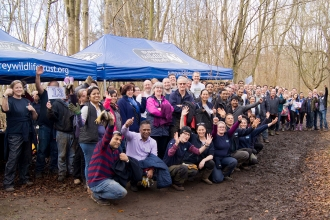 Surrey Wildlife Trust Volunteers at Norbury Park