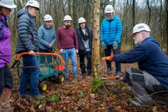 Paul teaching tree felling