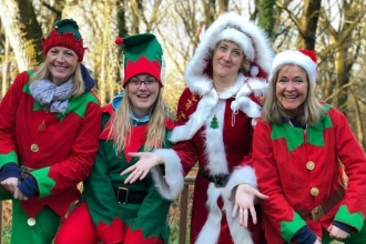 Christmas elves and Mrs Claus
