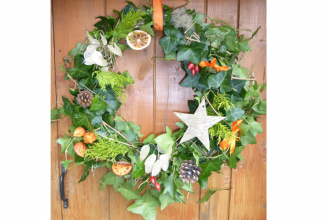 christmas wreath making - 2