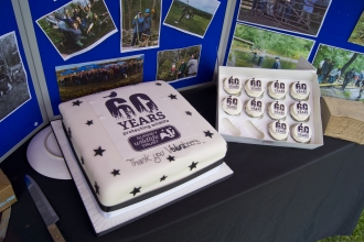 60 years volunteering cake