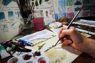 watercolours -  beginners course