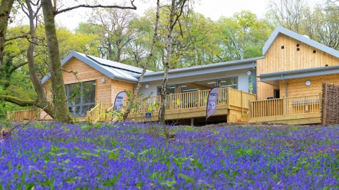 Nower Wood Education Centre in spring