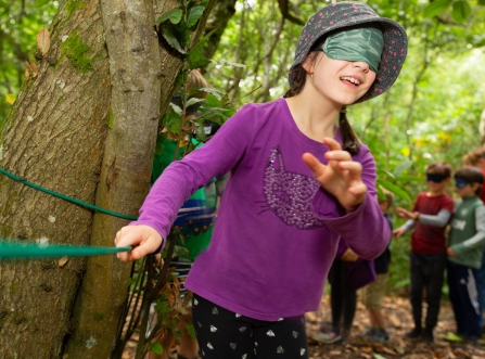 Exploring our blindfold trail