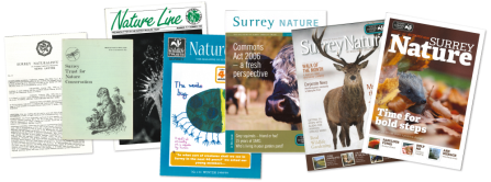 Surrey Wildlife Trust newsletters through time