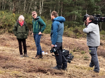 Countryfile filming on Brentmoor Heath