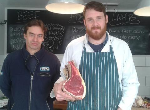 Butchers providing conservation beef
